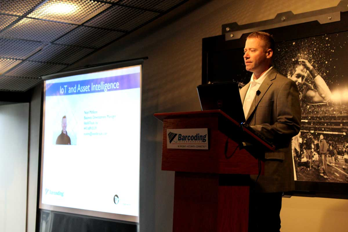 IntelliTrack Business Development Manager Noel McKeon Presents IoT and Asset Intelligence at Barcoding Executive Forum
